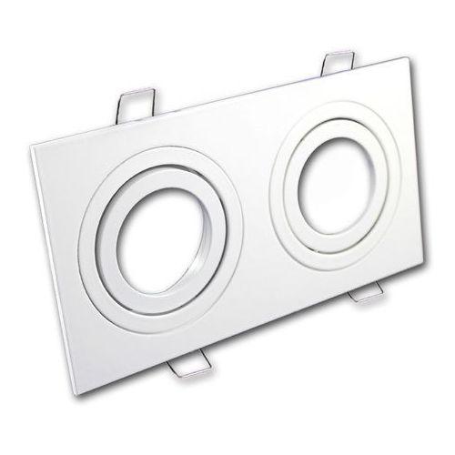 Ledart Oprawa sufitowa aluminium podwójna ruchoma biała matowa