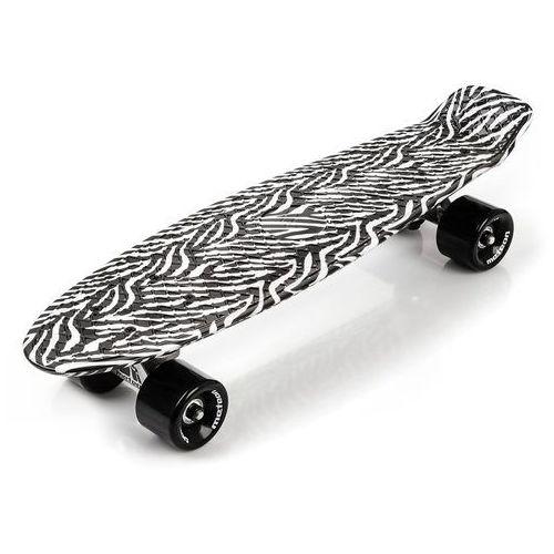Meteor  deskorolka fiszka plastikowa black/white zebra (5900724031487)
