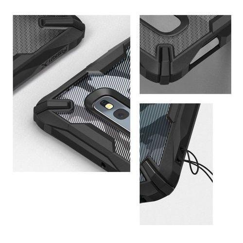 Ringke Fusion X Design etui pancerny pokrowiec z ramką Samsung Galaxy S10e czarny Carbonfiber Black (XDSG0015), 49013 (11837121)