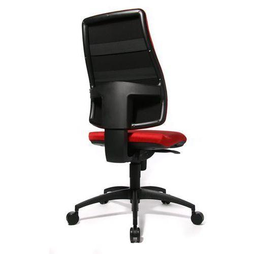 Krzesło obrotowe z siedziskiem nieckowym, wys. oparcia 680 mm, oparcie z obiciem marki Topstar