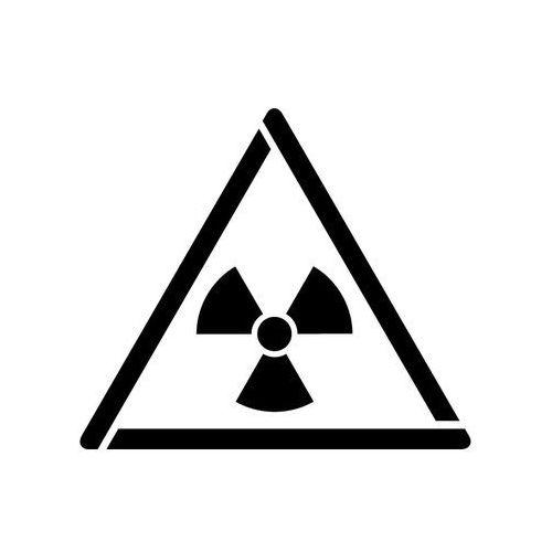 Szablon do malowania Znak ostrzeżenie przed mat. radioaktywnym... GW003 - 17x20 cm