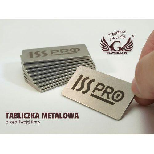 Grawernia.pl - grawerowanie i wycinanie laserem Tabliczka metalowa z logo twojej firmy - wym. 50x25x1,5mm
