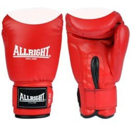 Rękawice bokserskie Allright PVC czerwono-białe