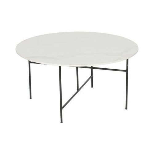 Woood stolik vida z marmurowym blatem biały 40xØ80 373797-w (8714713086924)