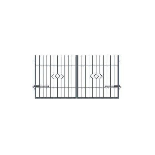 Brama dwuskrzydłowa LILA 300 x 150 cm POLARGOS