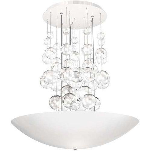 Lampa wisząca perla bianco 0857 oprawa zwis led 42w szklane kule balls biała marki Milagro