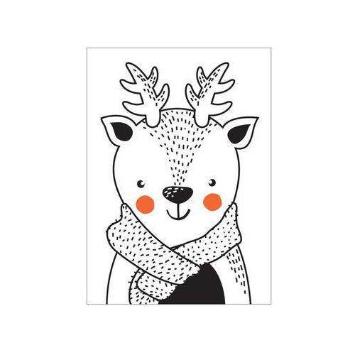 Obraz na pilśni jelonek w szaliku 40 x 50 cm marki Consalnet
