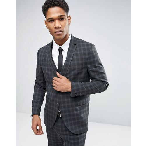 Jack & Jones Premium Skinny Suit Jacket in Check - Grey