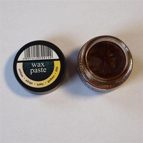 Pasta woskowa Pentart 10 ml - żółta - ŻÓŁ