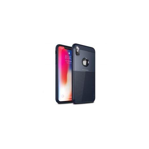 iPaky Shield gumowe wytrzymałe etui iPhone XS / X niebieski, 45462 (11086836)