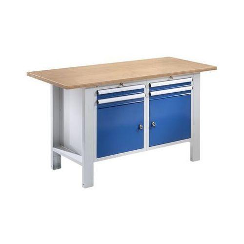 Stół warsztatowy, szer. blatu 1500 mm, 4 szuflady, 2 drzwi, płyta z multipleksu.
