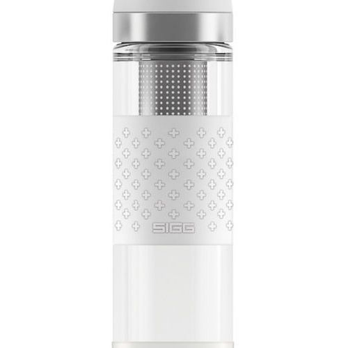 Sigg - termos szklany hot & cold white