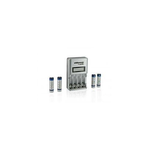 Whitenergy Ładowarka 4AA/4AAA HighSpeed 1800mA z LCD + 4xAA 2800mAh