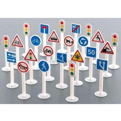 Zestaw znaków drogowych (24 elementy) w woreczku