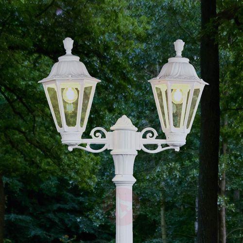 Lampa masztowa led artu rut, 2-pkt. e27, biała marki Fumagalli