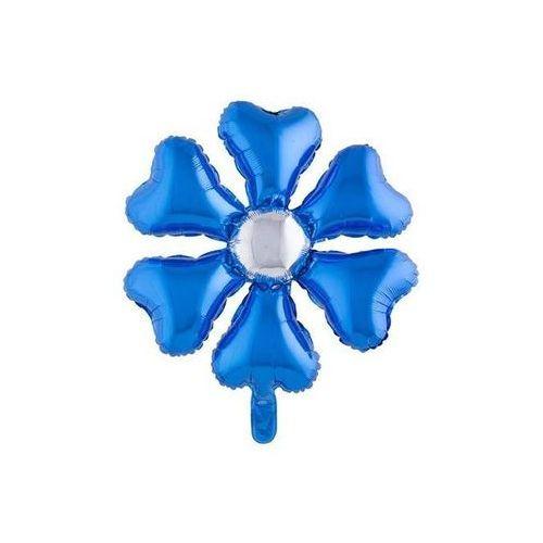F f Balon foliowy kwiatek niebieski - 55 cm - 1 szt.