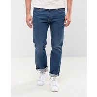 Levis 501 Original Straight Fit Jeans Subway Station Wash - Blue