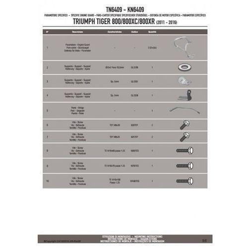 kn6409 gmole osłony silnika triumph tiger 800 / 800 xc / 800 xr (11-16) marki Kappa