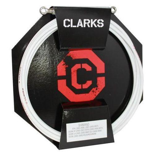 Clarks Pancerz do hamulca hydraulicznego clark's shimano przód + tył biały