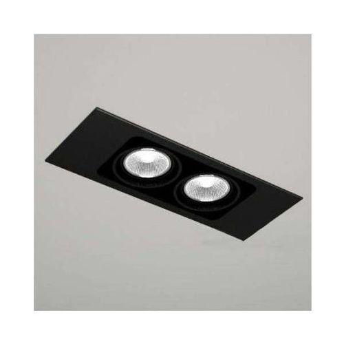 Spot lampa sufitowa ebino 3306/gu10/cz podtynkowa oprawa oczko do łazienki prostokątna wpust czarny marki Shilo
