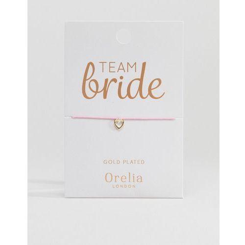 team bride heart friendship bracelet - pink marki Orelia