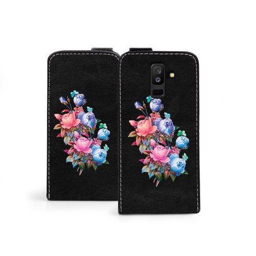 Samsung Galaxy A6 Plus (2018) - etui na telefon Flip Fantastic - bukiet róż