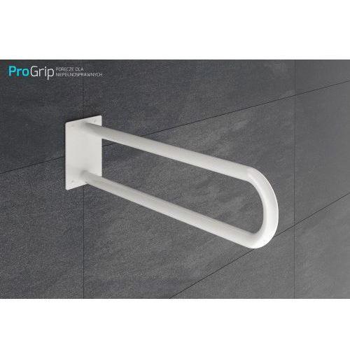 Poręcz ścienna stała biała emaliowana Ø 25 mm, długość 600 mm