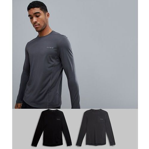ASOS 4505 training long sleeve t-shirt with quick dry 2 pack save - Multi, w 2 rozmiarach