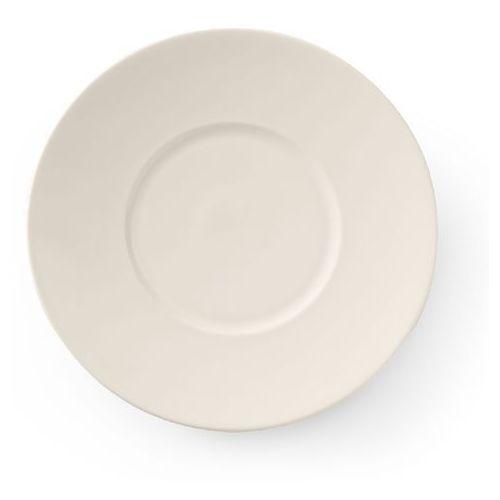Fine dine Talerz płytki porcelanowy z szerokim rantem crema