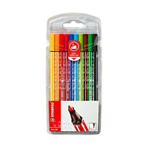Flamastry pen 68 10 kolorów miękkie etui marki Stabilo