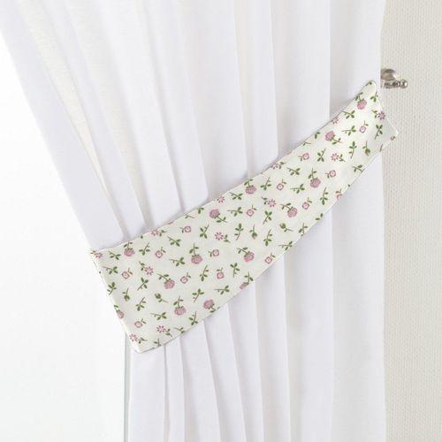 Dekoria Podwiązka Victoria, różowo-zielone kwiatuszki na jasnym tle, 12 x 70 cm, Wyprzedaż do -30%