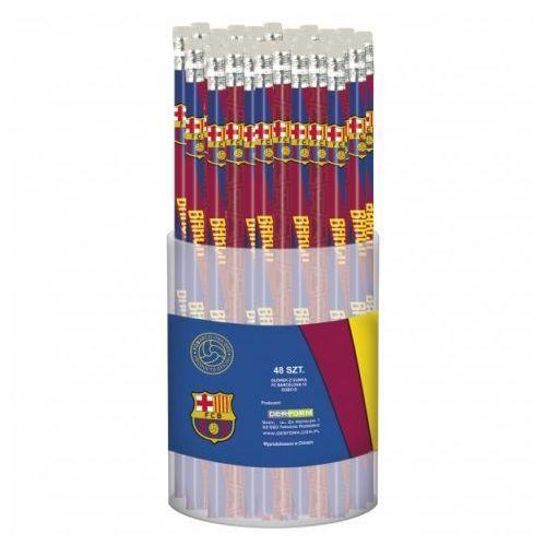 Derform Ołówek z gumką fc barcelona (48szt) (5901130053056)