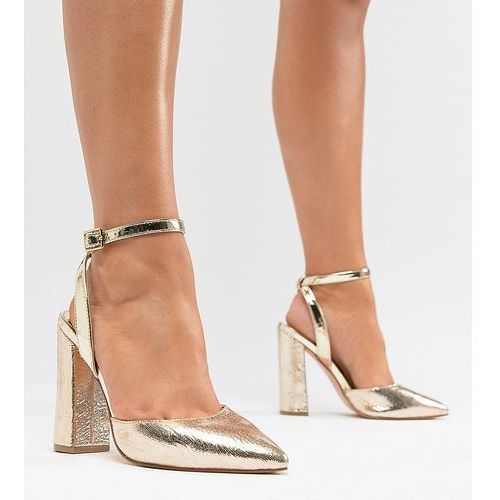 wide fit point sling back - gold, River island