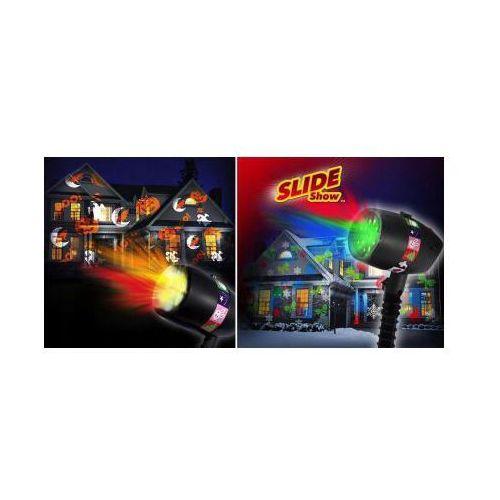 Świąteczny Ledowy Projektor SLIDE + 12 Wymiennych Wzorów (kardridży).