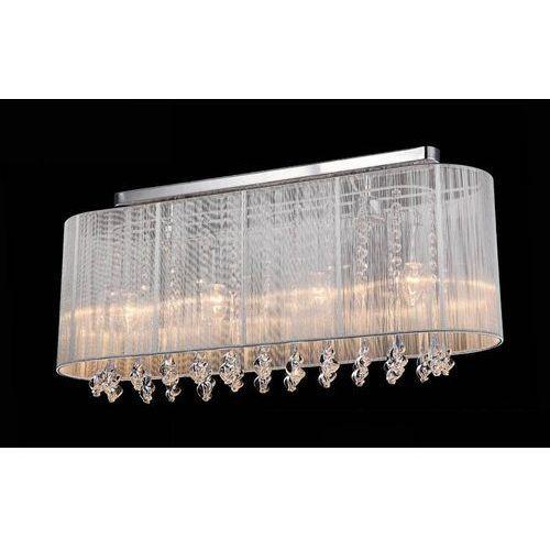 Plafon LAMPA sufitowa ISLA MXM1870-4 WH Italux abażurowa OPRAWA kryształowa glamour crystal biała
