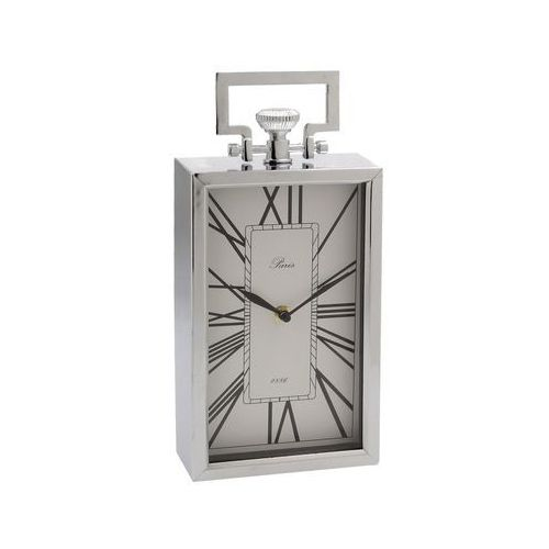 Dekoria Zegar Paris Silver wys. 32,5cm, 15 × 6 × 32,5 cm