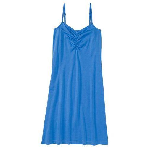 Koszula nocna na cienkich ramiączkach. bonprix lodowy niebieski, kolor niebieski