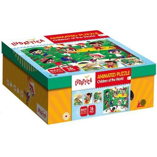 Ludattica animated puzzle children of the world - marki Lisciani
