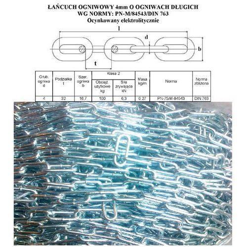 ŁAŃCUCH 4x32 ogniwa długie OCYNK elektrolit DIN763