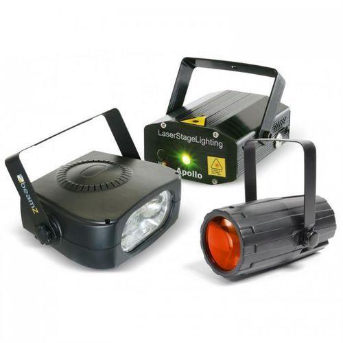 Beamz light package 4 zestaw efektów oświetleniowych disco
