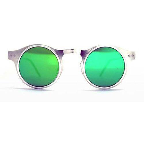 Spitfire Okulary słoneczne machina silver/silver/green mirrorr