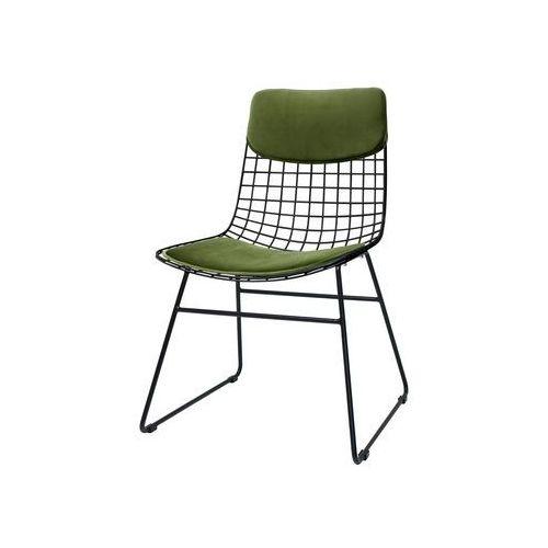 zestaw comfort zielony do metalowego krzesła wire tot4017 marki Hk living