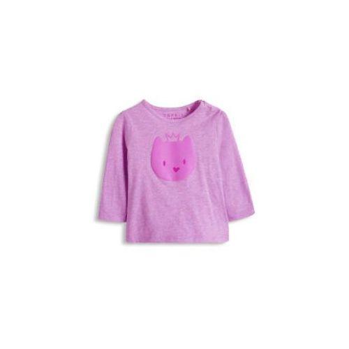 Esprit  baby girl bluzka z długim rękawem princess cat lila