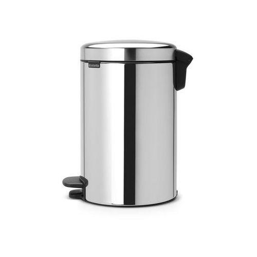Kosz na śmieci pedałowy NewIcon 12l z metalowym wiaderkiem stal pol. (8710755113888)