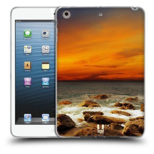 Etui silikonowe na tablet - piękne plaże czerwone niebo nad rocky seashore marki Head case