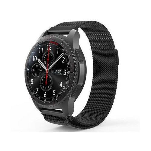 Bransoleta Milanese pasek stalowy do Samsung Gear S3 czarny - Czarny