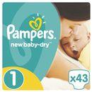 PAMPERS New Baby-Dry pieluchy 1 Newborn 43szt pieluszki (4015400264491) zdjęcie 1