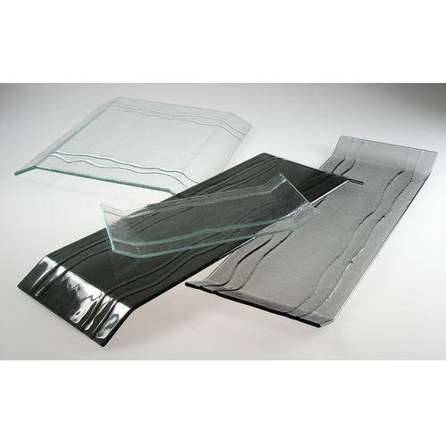 Taca szklana 450 x 150 mm, czarna   BDK, Bridge