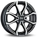 Felga  mswx4 gloss black machined face 5.5x14 4x100 et35 marki Msw