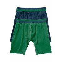 Bonprix Długie bokserki (2 pary) ciemnoniebieski + zielony